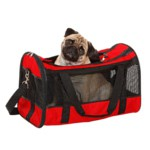 Carrying bag for dogs and cats Divina red