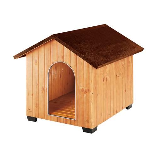 Caseta de madera para perros domus tiendanimal for Casetas para perros aki