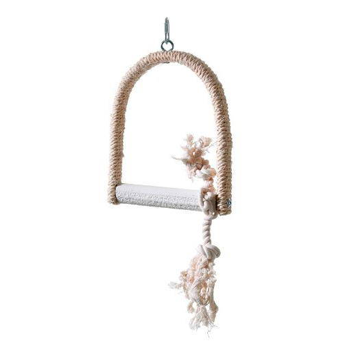 Sisal Swing with lime bird perches