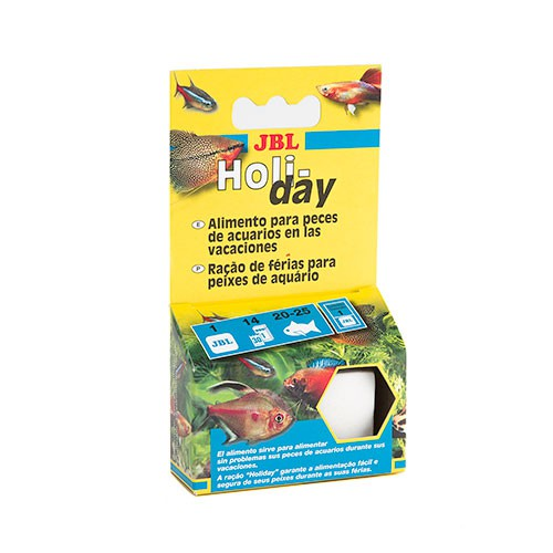Jbl holiday bloque de alimento para peces especial for Comida para peces