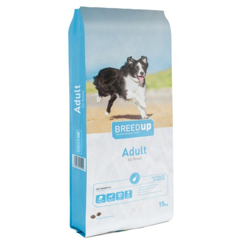 Pienso para perros Breed Up Adult con verduras y algas