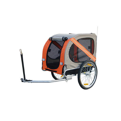 Remolque para perros con enganche especial para bicicletas