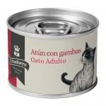 Alimento húmedo para gatos Criadores atún con gambas 170 gr