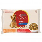 Purina One Mini Adult Pollo y buey en salsa