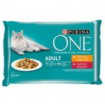 Purina One Adult Vacuno y Pollo en salsa
