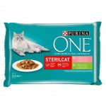 Purina One Sterilcat Salmon and Turkey in sauce