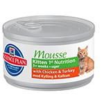 Hill's Feline Kitten 1st nutricion mousse enlatado para gatitos