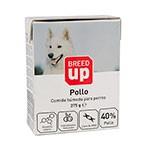 Comida húmeda para perros Breed Up con sabor a pollo