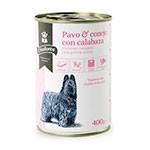 Comida húmeda para perros senior Criadores de pavo y conejo con calabaza