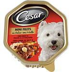 Tarrina Cesar en Salsa de Buey con Pasta y Zanahoria para perros