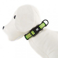 45d0a3ff3141 Collar para perros TK-Pet Urban Night lima reflectante ...