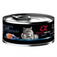 bea6ee626 Alpha Spirit húmedo salmón con arándanos para gatos