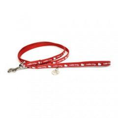 red nylon leash hello kitty   tiendanimal