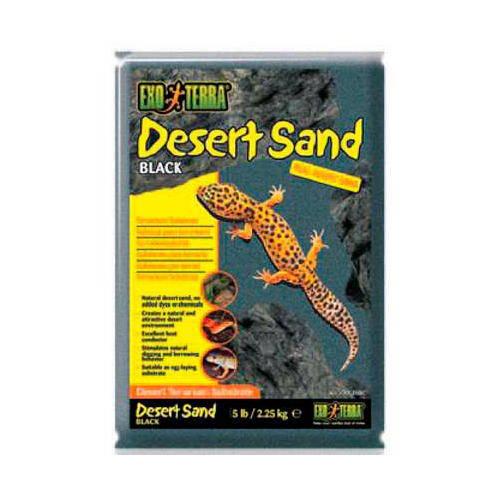 Arena del desierto Negra para terrario 4.5 Kg