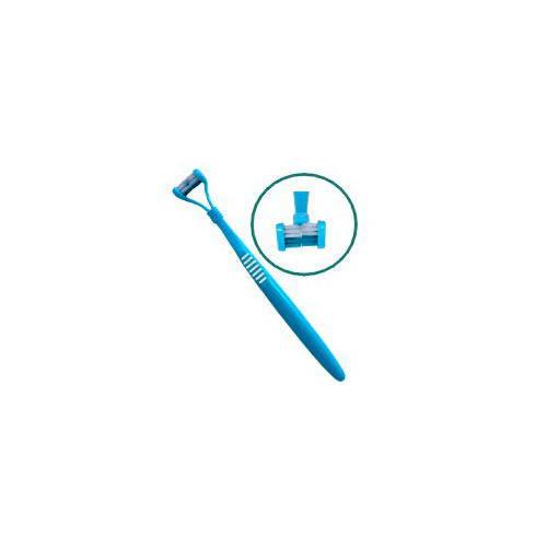 Cepillo de dientes de dos cabezas para perros