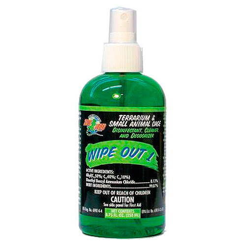 Disinfectant, cleaner, deodorizer for terrarium Wipe out
