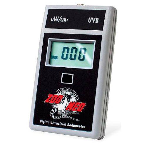 Medidor digital de rayos UVB para terrarios de Zoomed