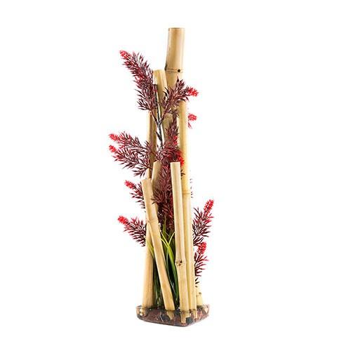 Bambú con base decoración de acuario