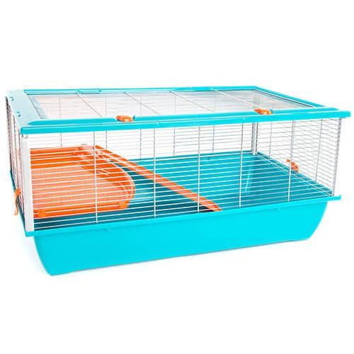 Jaula para hámster TK-Pet Plastic con 2 pisos