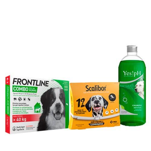Pack antiparasitario TOTAL con Scalibor para perros gigantes