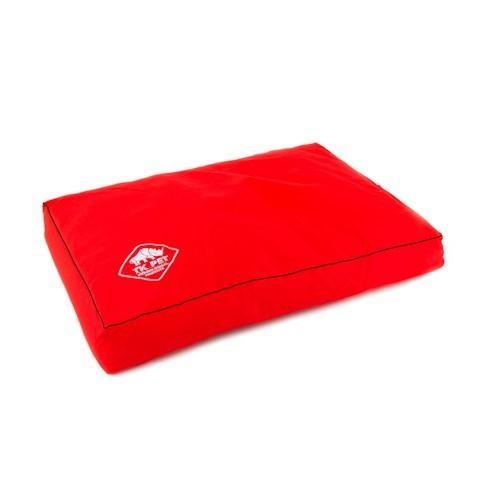 Cama viscoelástica tipo colchón TK-Pet Woof roja
