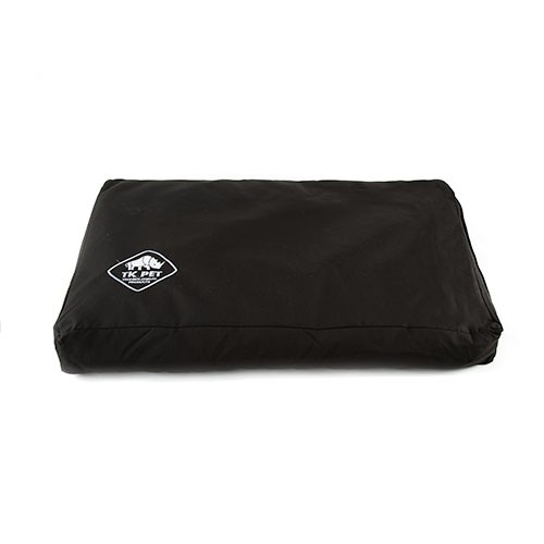 Funda negra de cama viscoelástica tipo colchón TK-Pet Woof