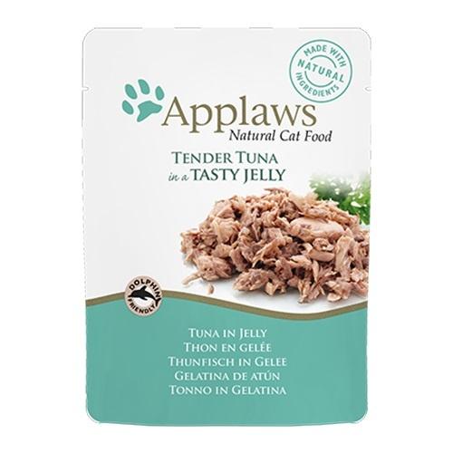 Comida húmeda para gatos Applaws Jelly Pouch con sabor a atún