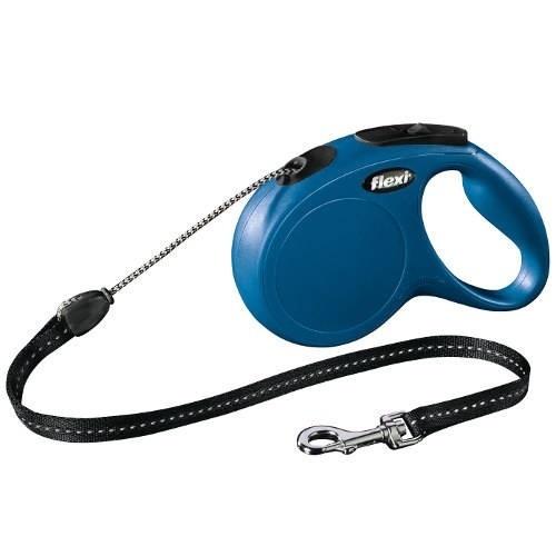 Correa extensible perro Flexi New Classic Basic Color Azul