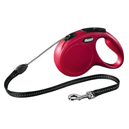 Correa extensible perro Flexi New Classic Basic Color Rojo