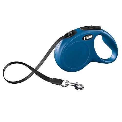 Flexi New Classic Compact correa extensible de cinta para perros Color Azul