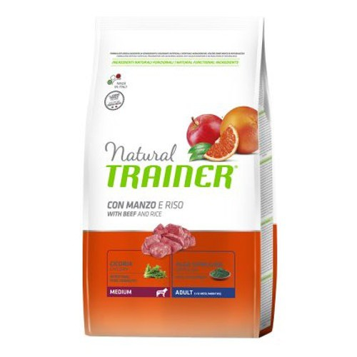 Natural Trainer Adult Medium con ternera, arroz y ginseng