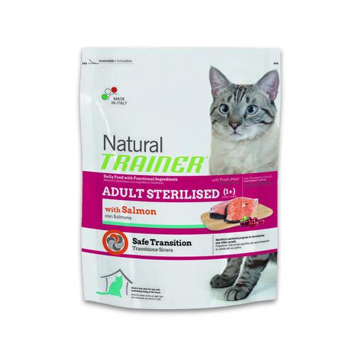 Natural Trainer Feline Adult Sterilised Salmón pienso para gatos