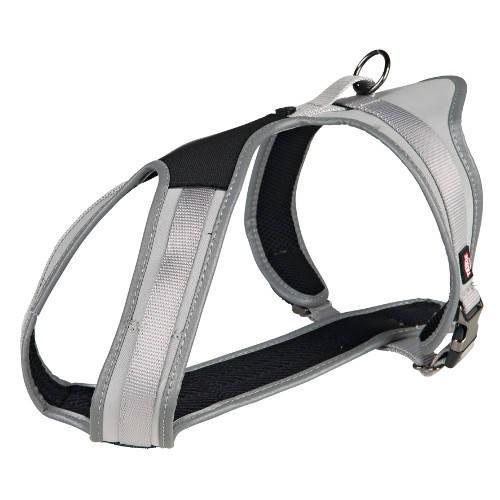 Arnés para perros Trixie Noruego Confort Experience color plata