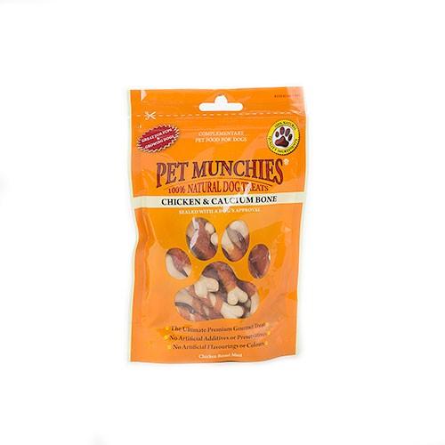 Snacks para perros Pet Munchies Chicken and Calcium Bone huesos de calcio y pollo