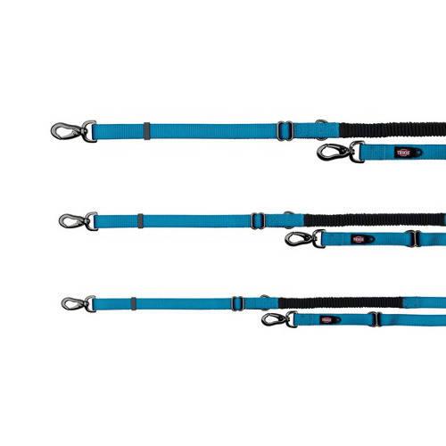 Correa para perros Trixie Ramal Amortiguador color azul