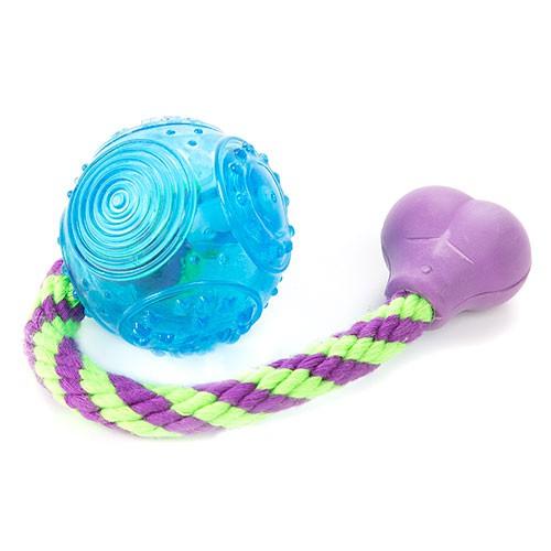 Juguete para perros Trixie pelota con cuerda