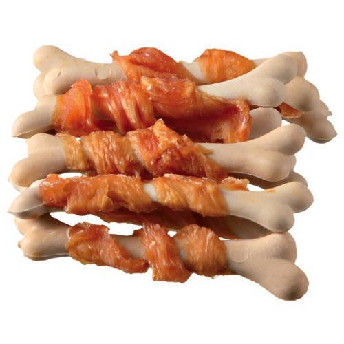 Snack para perros Trixie Premio Chickies huesos de calcio