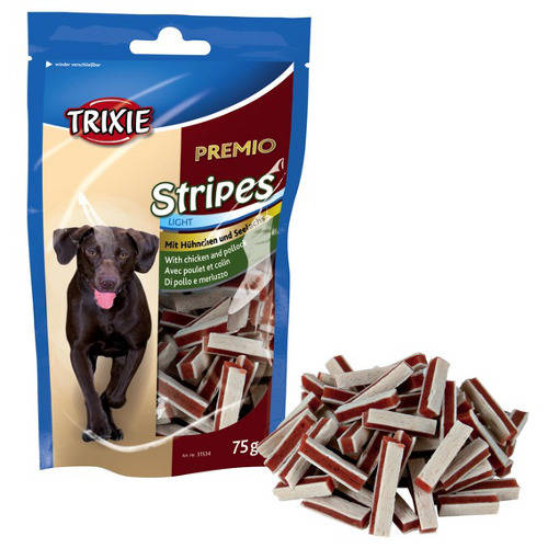Snack para perros Trixie Premio Stripes tiras de carne