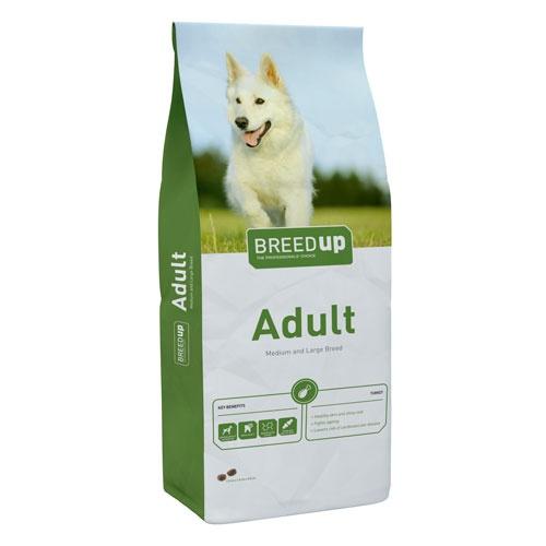 Pienso súperpremium para perros Breed Up Adult Turkey con pavo para razas medianas y grandes