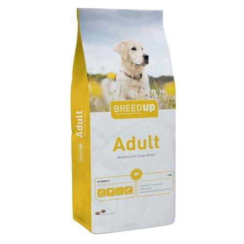 Pienso súperpremium para perros Breed Up Adult Lamb con cordero para razas medianas y grandes