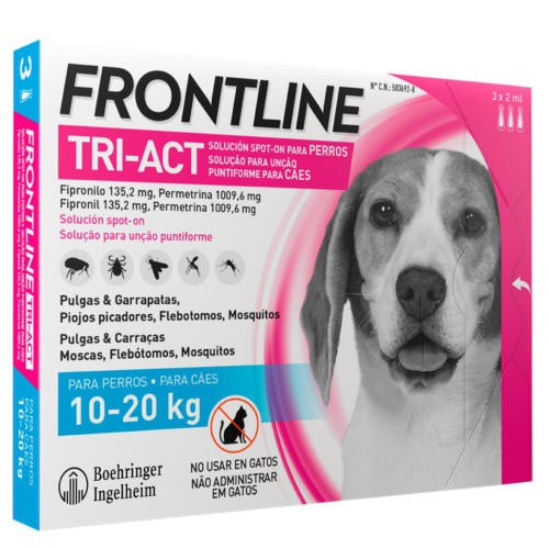 Frontline Tri-Act pipette for dogs 10-20 kg Total protection