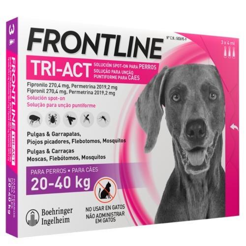 Frontline Tri-Act Pipetas para perros protección total 20-40 kg