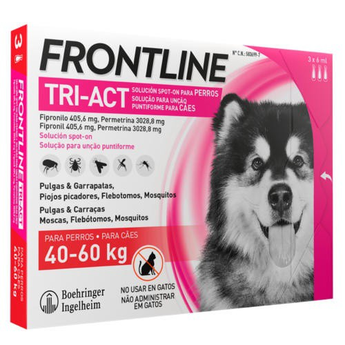 Frontline Tri-Act Pipetas para perros protección total 40-60 kg
