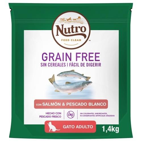 Nutro Grain Free salmón y pescado para gatos