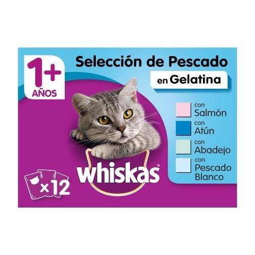 Comida húmeda para gatos Whiskas multipack selección de pescado