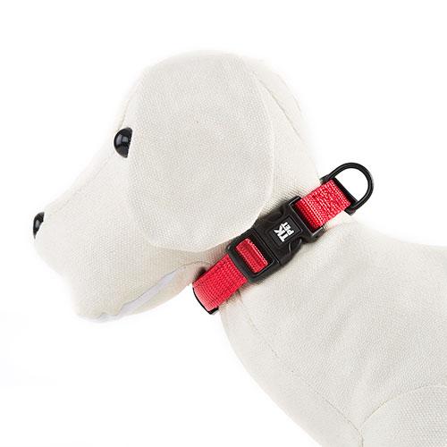 Collar para perros TK-Pet Neo Classic rojo de nylon y neopreno