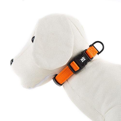 Collar para perros TK-Pet Neo Classic naranja de nylon y neopreno