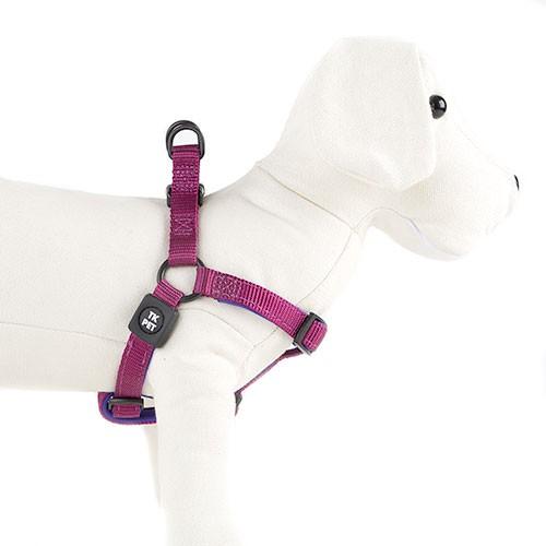 Arnés para perros TK-Pet Neo Classic morado de nylon y neopreno