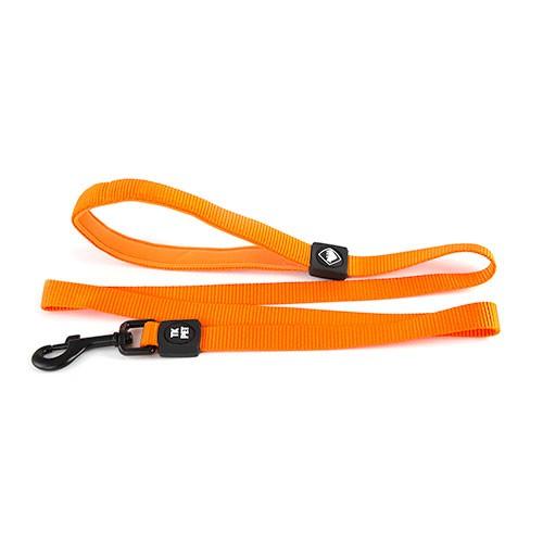 Correa para perros TK-Pet Neo Classic naranja de nylon y neopreno