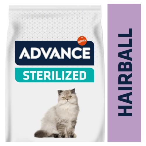 Pienso para gatos esterilizados Advance Sterelized Hairball